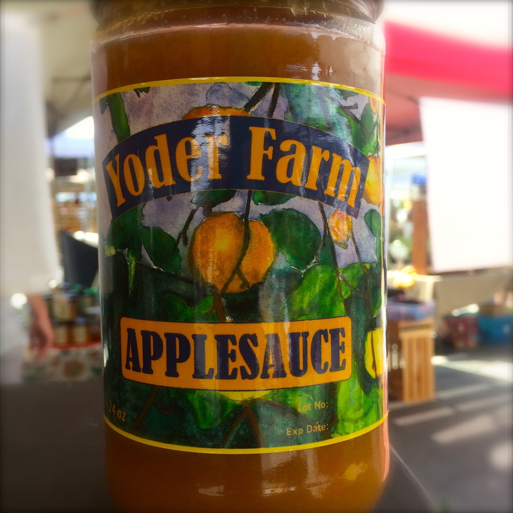 Yoder's famous applesauce. Photo courtesy of Rachel Yoder
