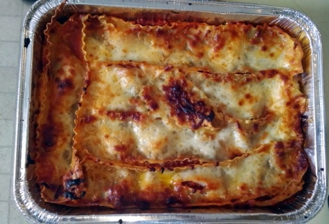 The prepared lasagna Kim Griffin/photo