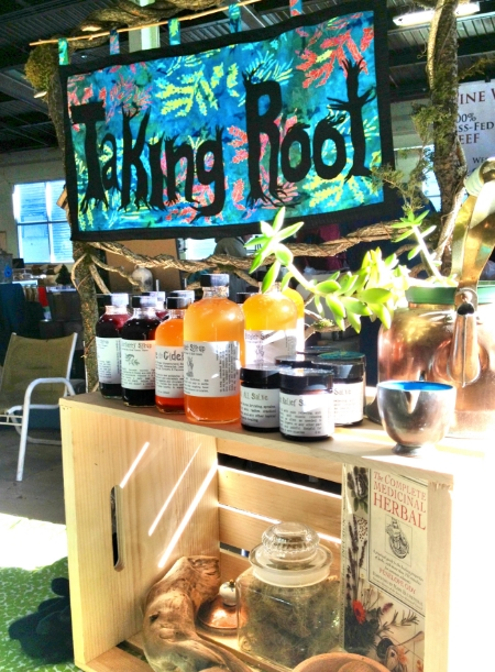 Taking Root's display at the Rutland Winter Farmers Market (provided photo)