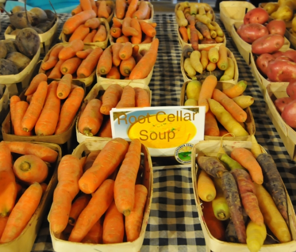 Carrots, potatoes, and other cold-season crops can be found at the winter farmers market many months after harvest thanks to careful storage Photo Credit: Lee Krohn Photography