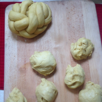 Divide each half into 6 equal balls of dough. Photo by Elena Gustavson.