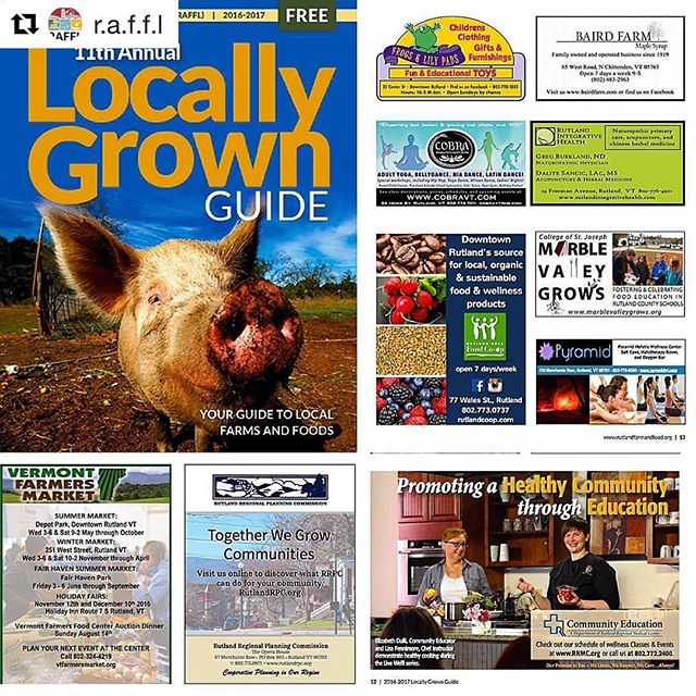 LAST CALL! Send in your advertisements by February 24, 2017 to make it into @r.a.f.f.l  2017 Locally Grown Guide. To learn more and purchase an advertisement: http://www.rutlandfarmandfood.org/guidesales #locallygrownguide