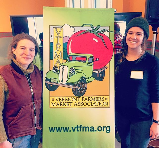 Our Farm Fresh Connect Manager @hayeser1221 and Farm Services Advisor @mlhearst are having a great day at the Vermont Farmers Market Conference! @nofavermont @vermontlawschool #rootedinvermont #vt #vtfmc #supportyourlocalfarmer