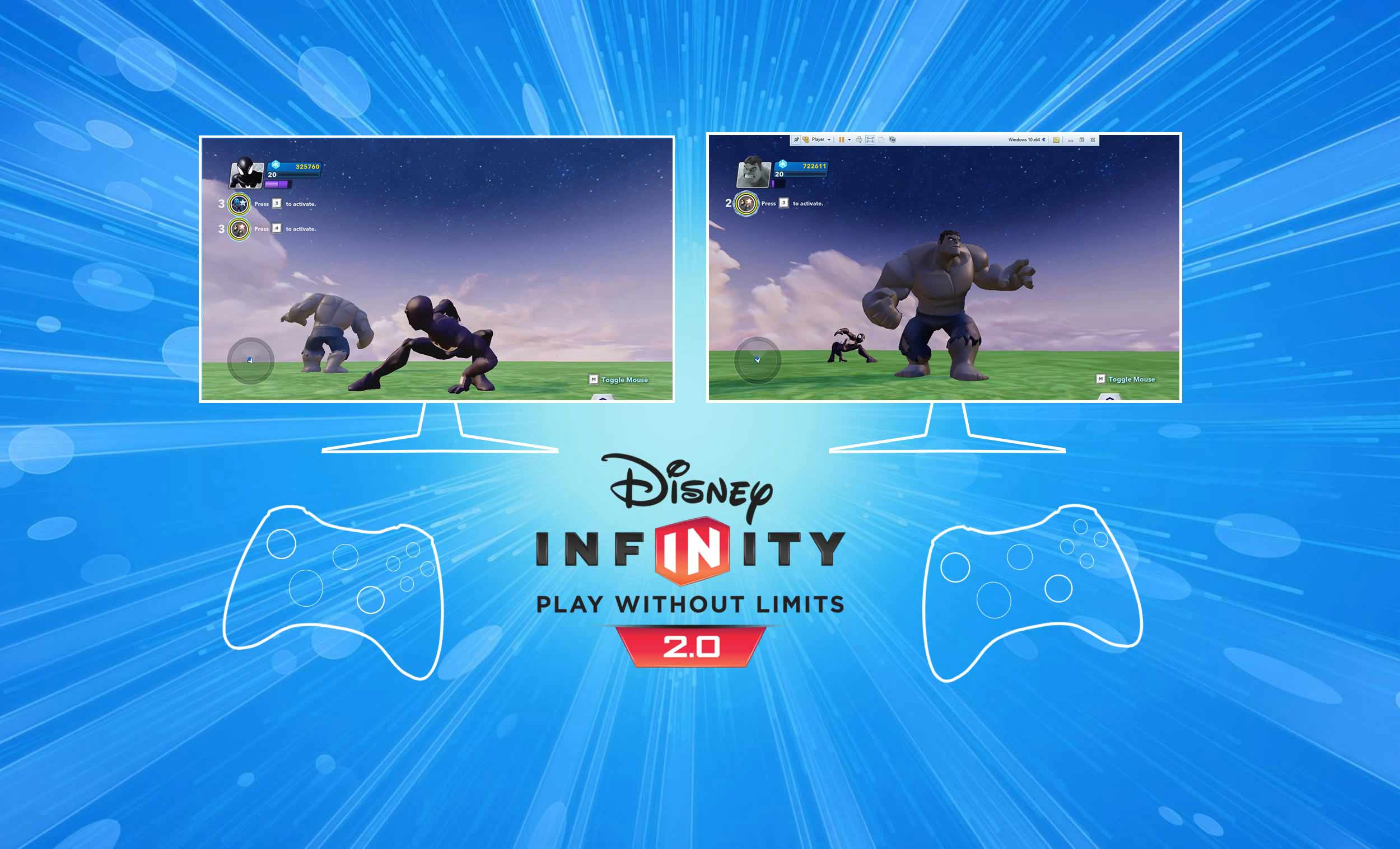 """disney infinity 2.0 multiplayer using one pc<br><div class=""""post"""