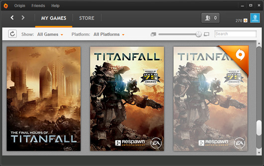 My EA Origin PC games library with app tiles for the Longform app, the retail version of the game and the beta version that I can hide from the library but can't seem to actually remove