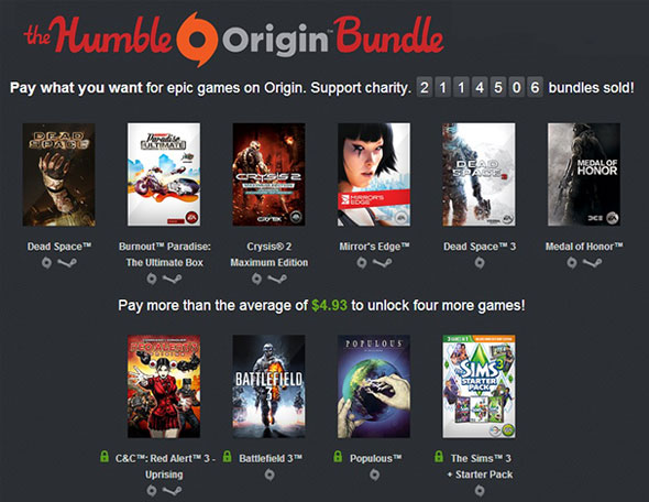 The Humble Origin Bundle from September 2013. One of the most successful Humble Bundles to date.