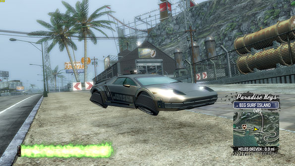 Jansen P12 88 Special with the ski jump in the background via the Burnout Paradise mods.