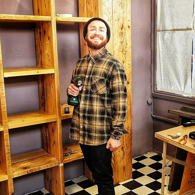 Settimio wine maker and shelf builder!  #comingsoon  #brixtonvillage  #brixtonnightlife  #brixton  #wineislife  #winestagram  #diy #hardatwork  #workhardplayhard