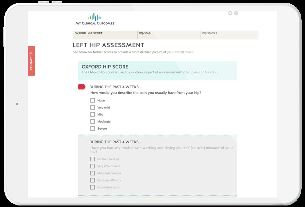 Patient Reported Outcome Measure - Patient Assessment
