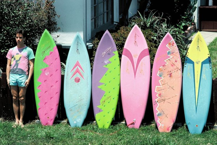 Shawn Stussy's first line of surfboards