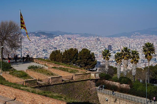 Loved this view from Montjuïc Castle... including the Sagrada Familia in the distance. Seeing the city, port and airport from one viewpoint was definitely pretty cool … …  #cityscapes_unlimited #city_captures #cityview #cityscape #cityphotography #barcelona #barcelonaphotography #spain #espana #montjuic #montjuïc #travelphotography #travelgram #beautifuldestinations #explorer #exploretheglobe #goexplore #architecture_greatshot #barcelonaspain #barcelona_world #ig_barcelona #visitbarcelona #barcelonagram #thebarcelonist #ig_catalonia #monumental_catalunya #montjuiccastle #sagradafamilia