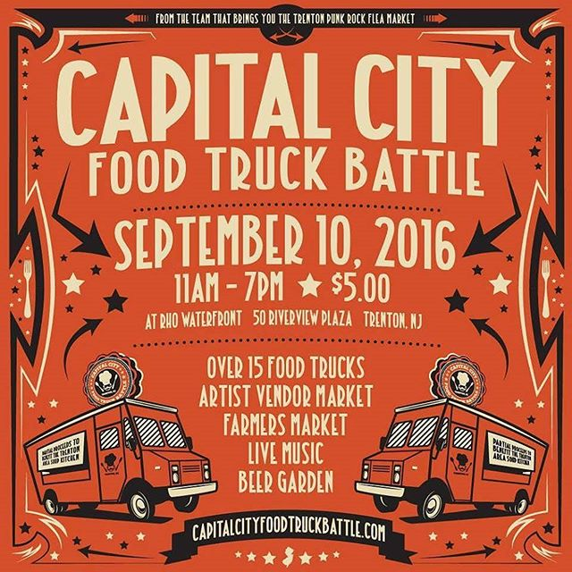 Brutalsquid will be vending the Capital City Food Truck Battle! This Saturday the 10th, 11am-7pm, RHO waterfront, 50 Riverview Plaza Trenton NJ! #trenton #ccftb #capitalcityfoodtruckbattle #newjersey #nj #food #snacks #ilikefoodfoodtastesgood #trentonmakestheworldtakes #ilovenewjersey #tprfm #trentonpunkrockfleamarket #brutalsquid #art #paint #painting