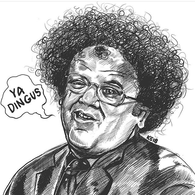 This dingus seems to have gone over pretty well. Would you pay paper or coin for prints or stickers? Perhaps in color? #drstevebrule #johncreilly #oneofpaperequalsfourofcoin #foryourhealth #checkitout #brutalsquid #brutalsquidart #kristindebockler #art #artist #illustration #procreate #sketch