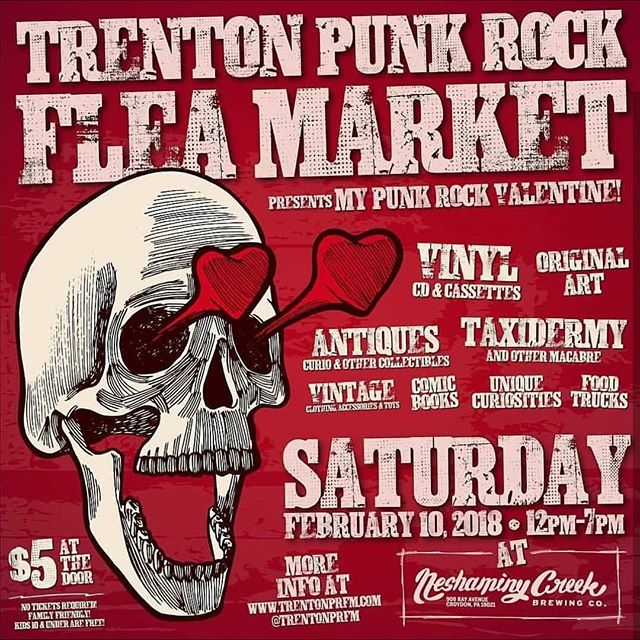 Next up, @trentonprfm at @ncbcbeer ! Come find me on Saturday February 10th. I'll have lots of goodies for sale... perfect for the one you love, or hate, or love to hate. #brutalsquid #brutalsquidart #kristindebockler #art #artist #illustration #trentonpunkrockfleamarket