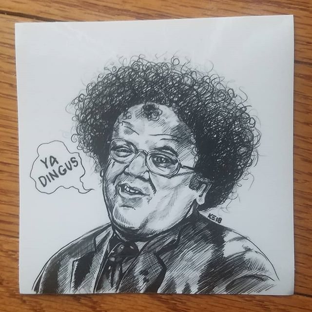 Visit my etsy store to purchase, link in my bio. $3 for a 4x4 uv/weather resistant vinyl sticker, for your health! http://brutalsquid.etsy.com #brutalsquid #brutalsquidart #kristindebockler #art #artist #illustration #stevebrule #drstevebrule #foryourhealth #prizza #sweetberrywine #oneofpaperequalsfourofcoin #bringo #kristinsmith