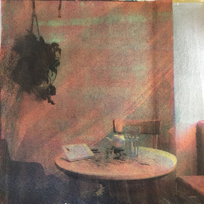 A Cafe in Vienna. Manipulated CYMK Gum Print, 2018.