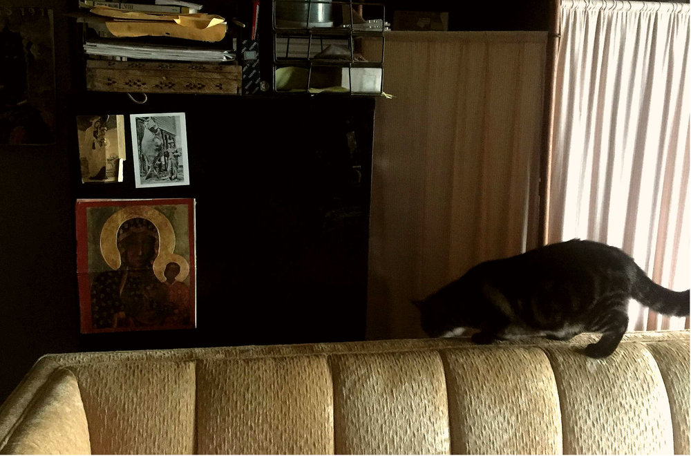 Makeshift and Mine: Home Studio feat. Velvet Couch, Black Madonna, and a Cat named Baci