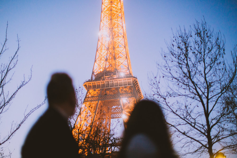 The lights on the Eiffel Tower started to sparkle during Ashlie's vow to Monique. The timing was impeccable and what an unforgettable moment that was.