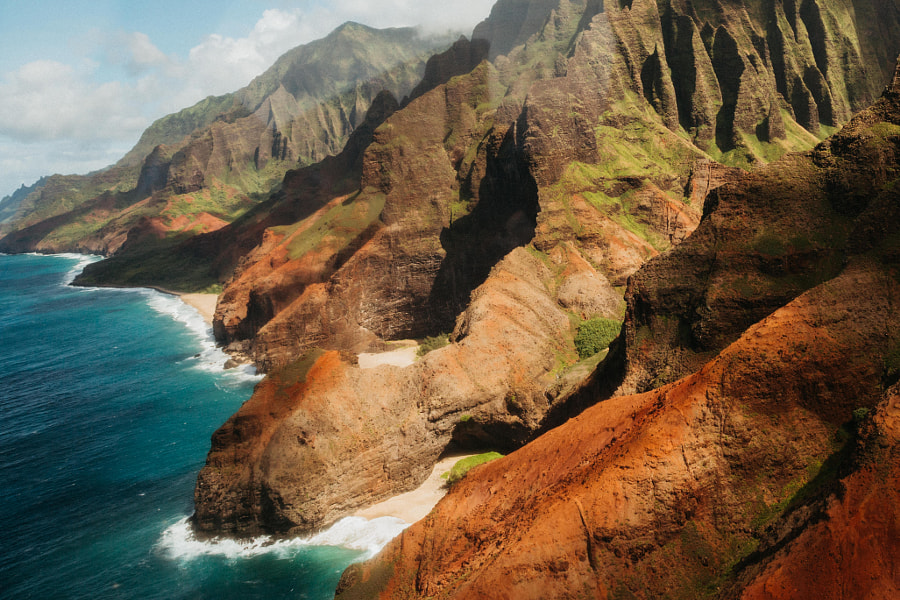 Flying high above the NāPali Coast in Kauai.. an experience I'll never forget.