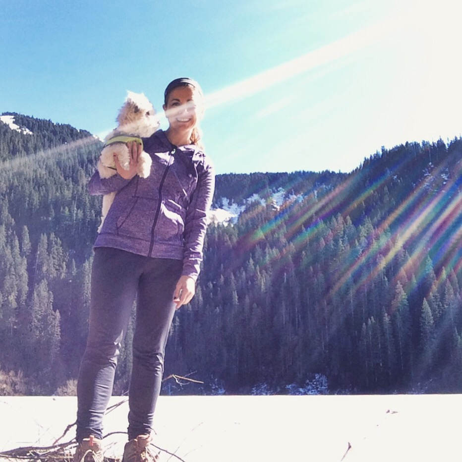 Ellie, me and some serious lens flare