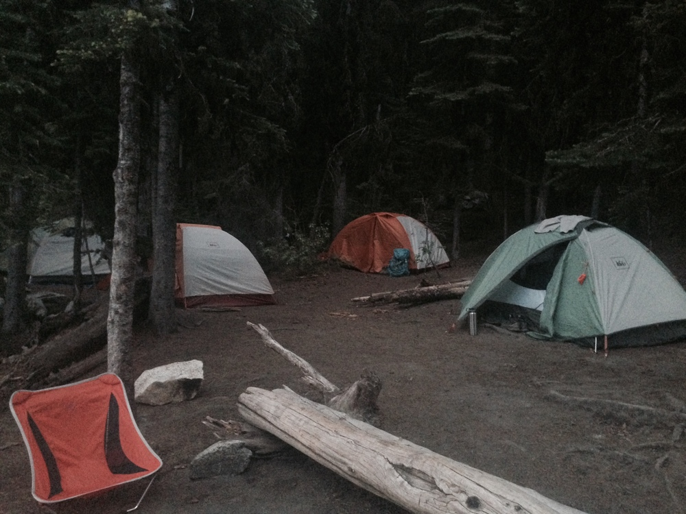 Our camp home (minus one tent). Photo from Bree.
