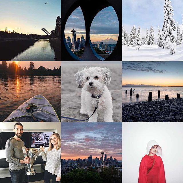 You know you have a thing for sunsets when your #2017bestnine looks like this... . . . Resolutions for 2018 include: getting more use out of my camera, using my gym membership, and making progress on the novel I started too long ago. Let's get this! #goodbye2017 #hello2018