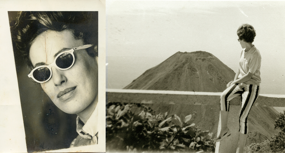 Janine at her new home in El Salvador, a volcanic landscape like the one she left in Le Mont-Dore. (Photos: Muriel Hasbun archive.)