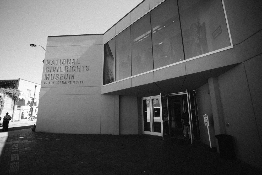 The entrance to the National Civil Rights Museum.