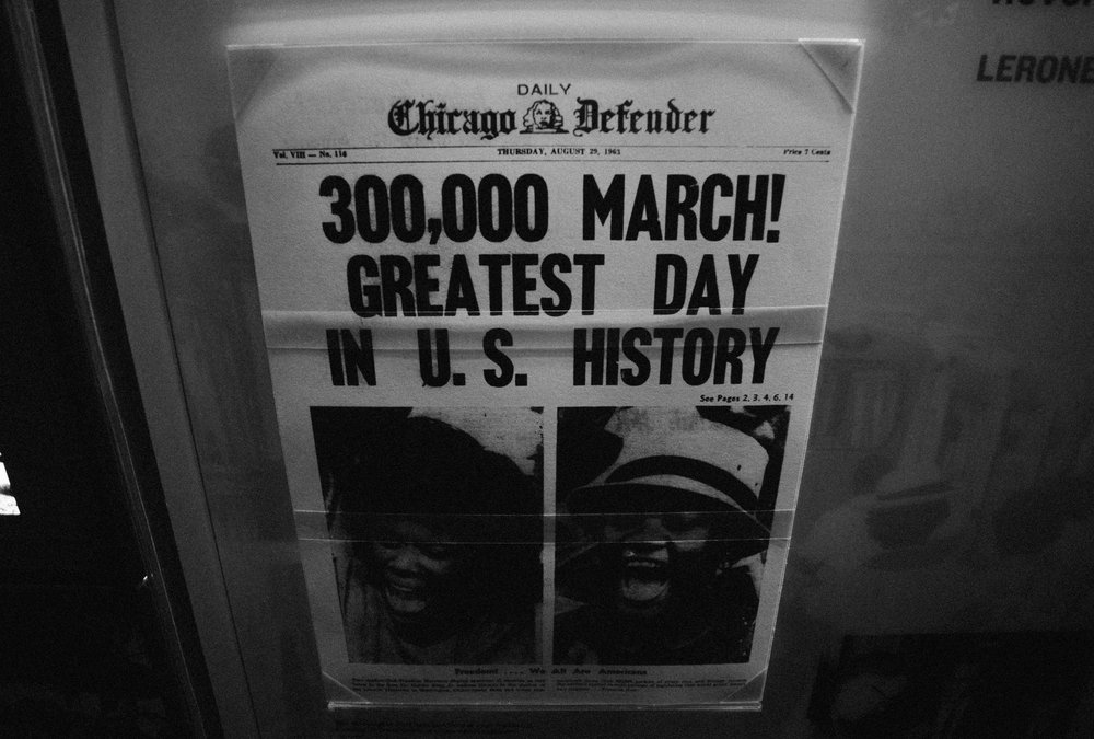 A newspaper displaying the power of protest marches.