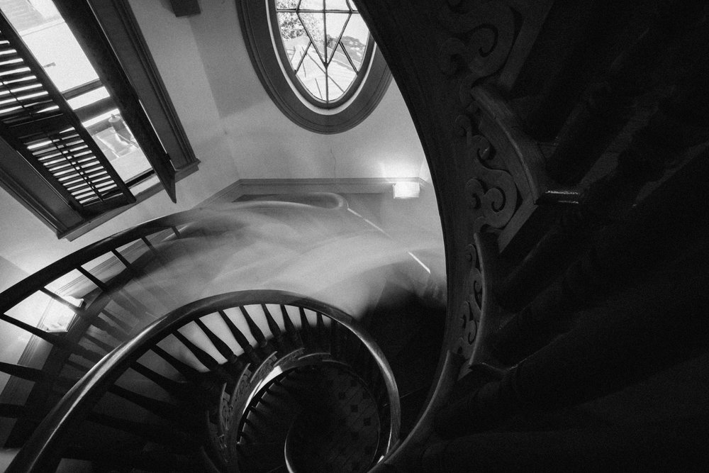 "A ""ghost"" captured in the cupola of the Hay House in Macon, Georgia."