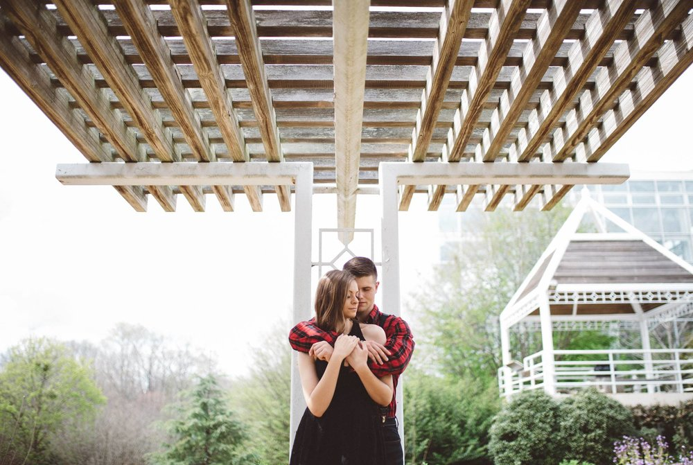 Engagement session at the Athens Botanical Gardens.