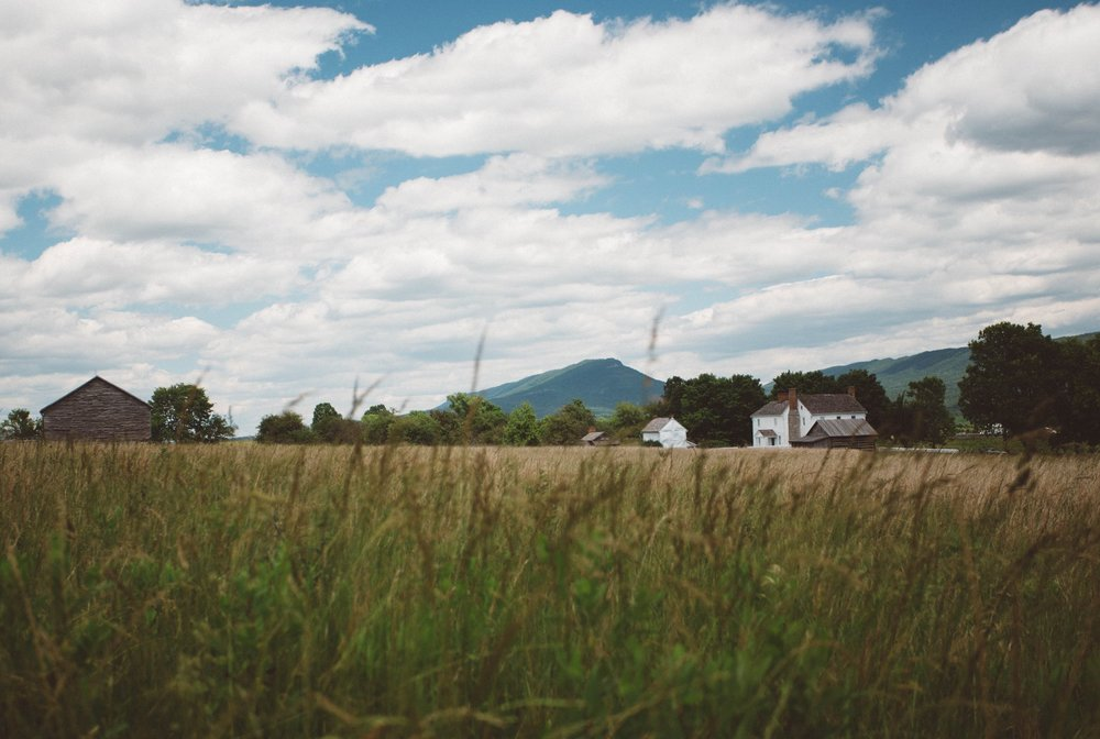 Mount Jackson sits in the background at the New Market Battlefield.