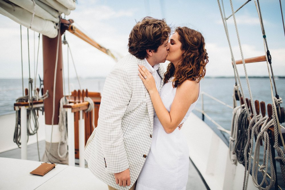 A special engagement aboard the Schooner Pride, Charleston Harbor, South Carolina.