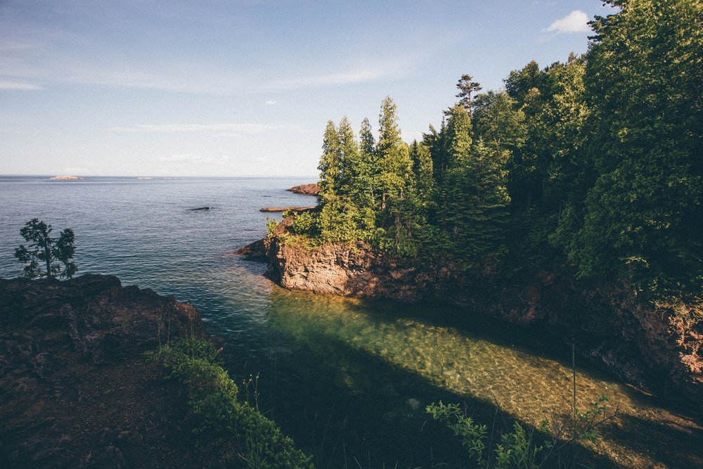 Black Rocks in Marquette, Michigan. Super cold water!