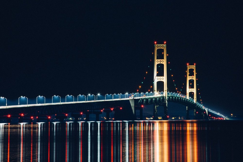 The Mighty Mac! This bridge connects Michigan's Lower and Upper Peninsula.