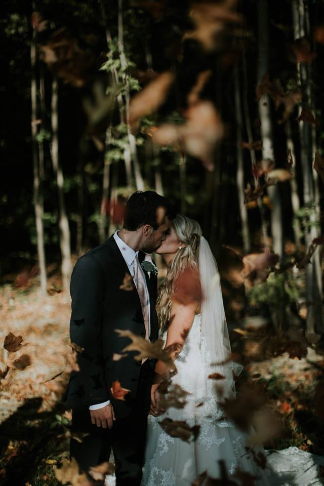 Kristyn and Kevin enjoy autumn in Geneva, Ohio. A beautiful wedding!