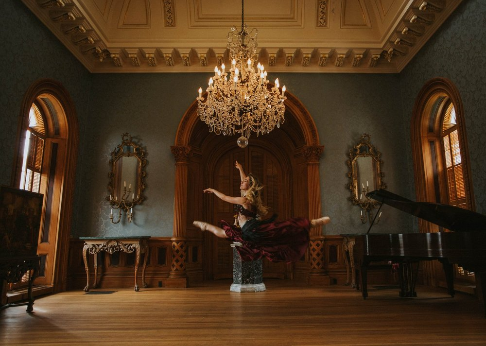 My favorite image of 2017: A Russian ballerina dances at the Hay House in Macon, Georgia.