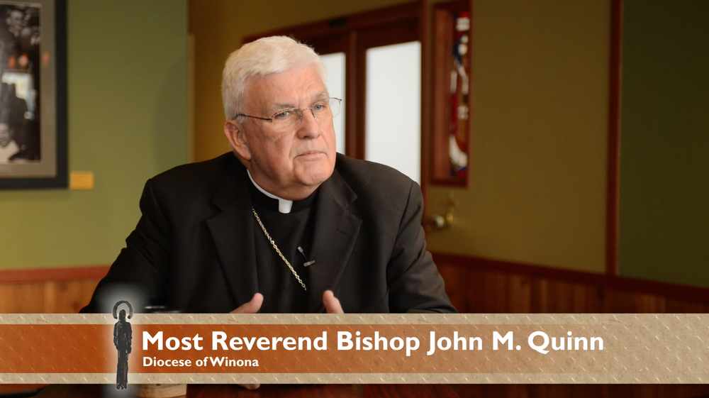 Bishop John Quinn Winona Diocese St. James Coffee Rochester MN video film