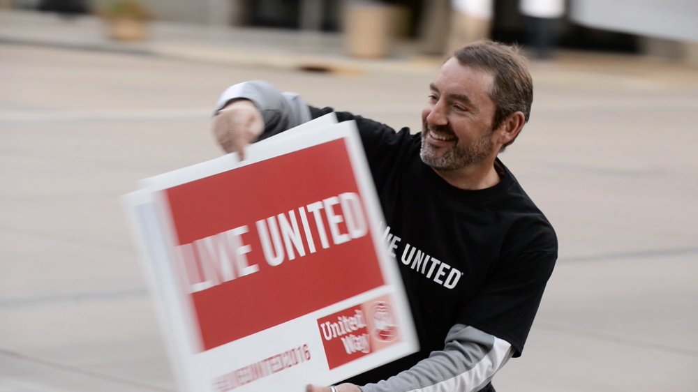 United Way of Olmsted County campaign kickoff video film by Red Couch Stories non-profit director Jerome Ferson