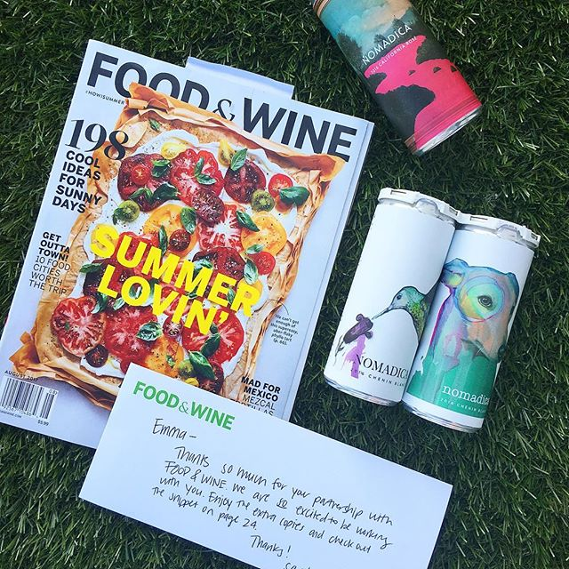 "We're in the August @foodandwine! ""This startup based in Los Angeles features an ever changing array of artist designed labels. The berry-scented dry rosé is especially intriguing."" - thanks @rayisle and the whole team!"