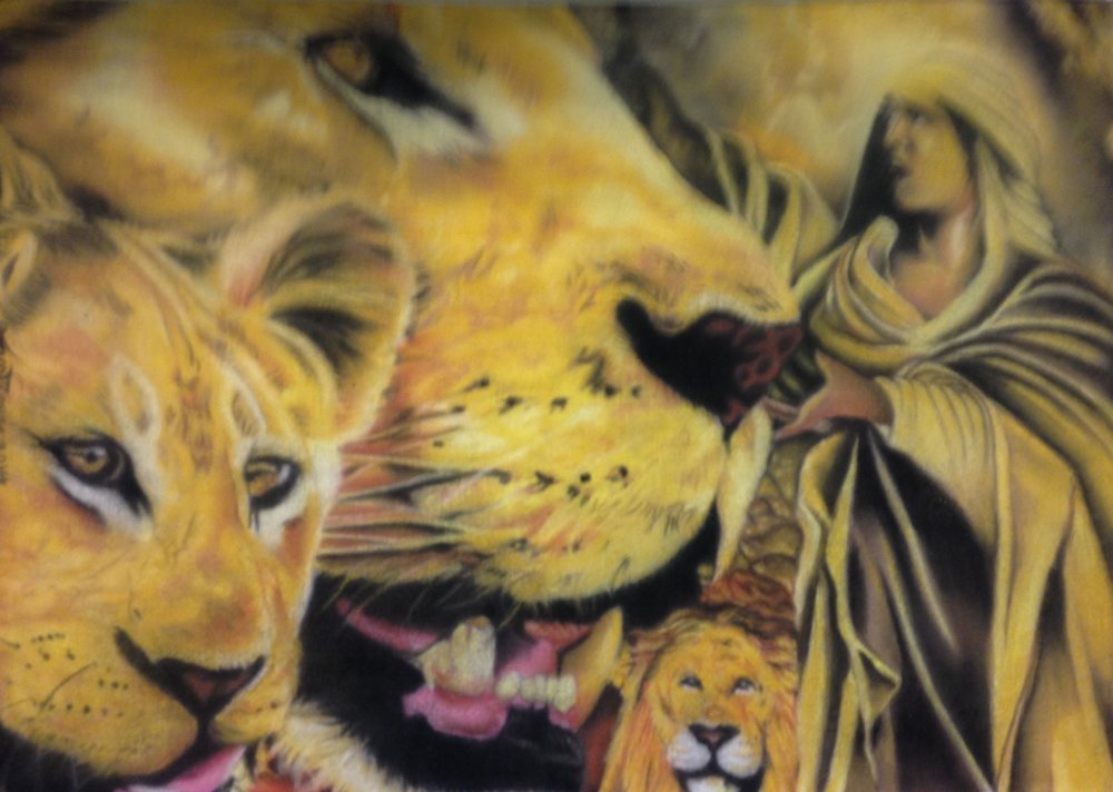 """Daniel in the Lion's Den"" won First Place in 2014"