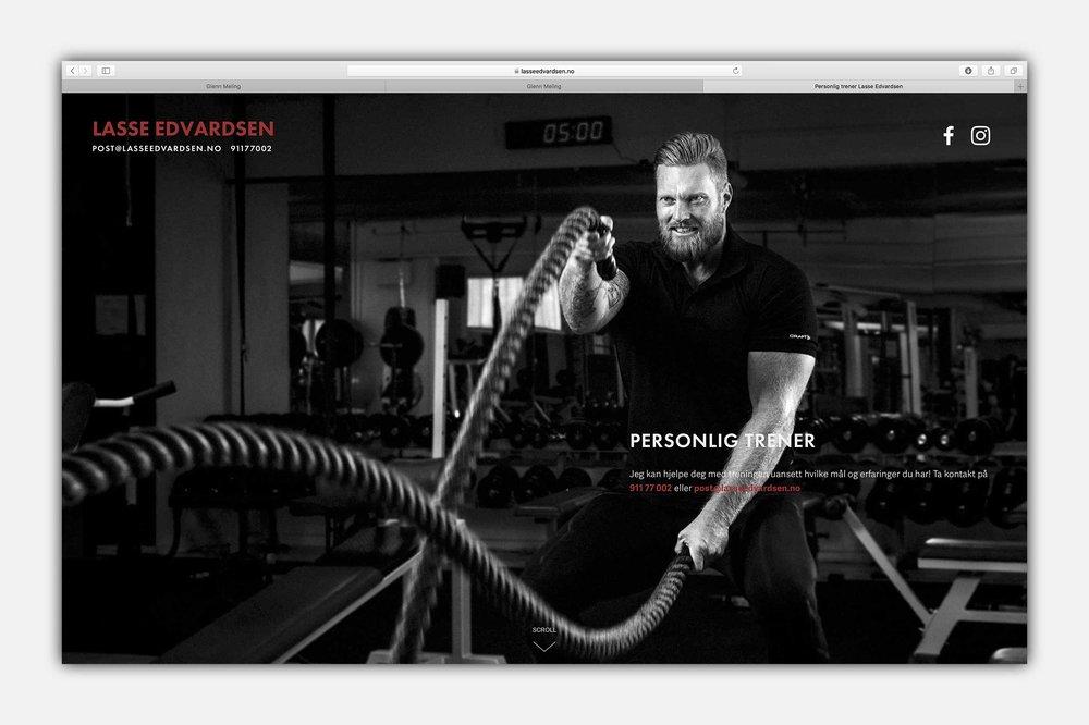 Lasse Edvardsen, personlig trener -  www.lasseedvardsen.no  | Website and images by Glenn Meling