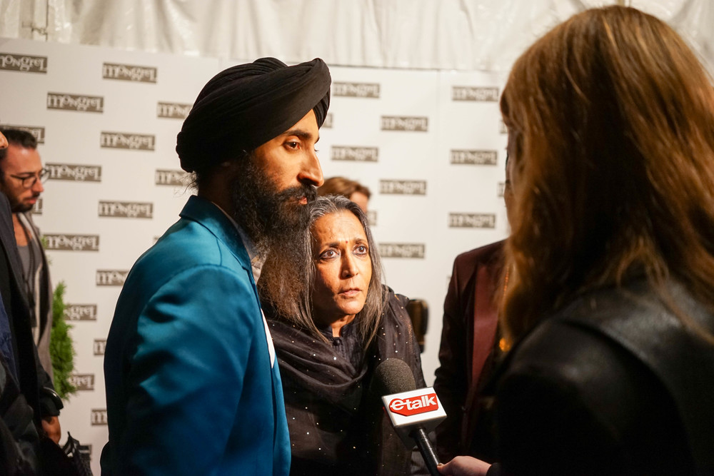 Deepta Mehta and Waris Ahluwalia with ETalk Canada