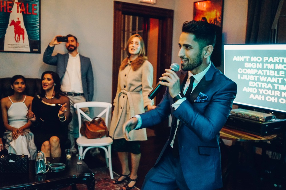 Ali Momen in the Campbell House karaoke room