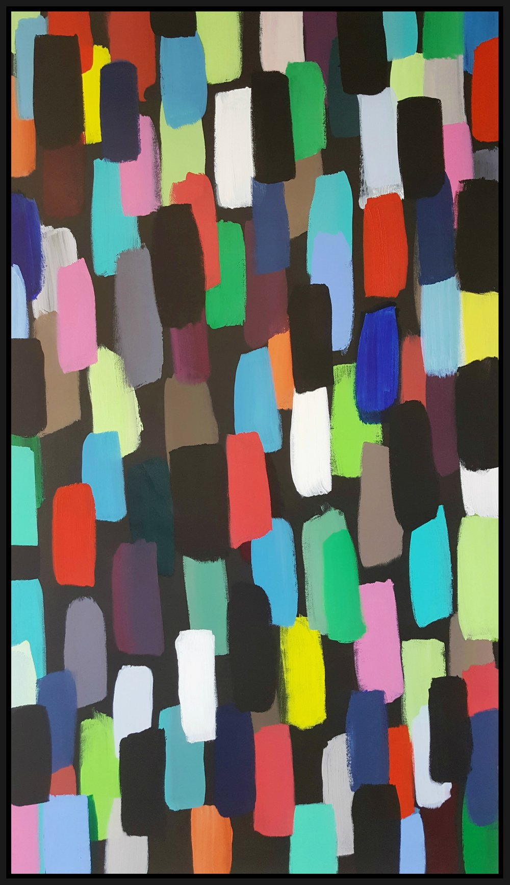 "Jelly Beans #5, 2016, acrylic on canvas, 84"" x 48"" (213.4 x 121.9 cm)"