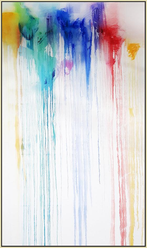 """Splash of Colour #28, 2017, oil on canvas, 120"""" x 72"""" (304.8 x 182.9 cm)"""