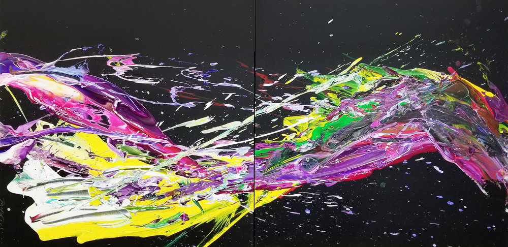 "SP² #71, 2017, acrylic on canvas, 36"" x 72"" (91.4 x 182.88 cm)"