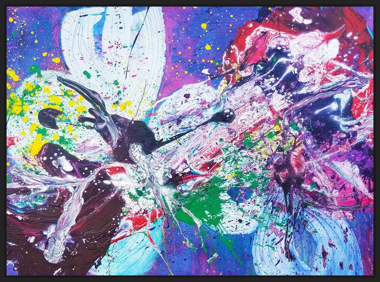 """SP² #11, 2017, acrylic on canvas, 36"""" x 48"""" (91.4 x 121.9 cm)"""