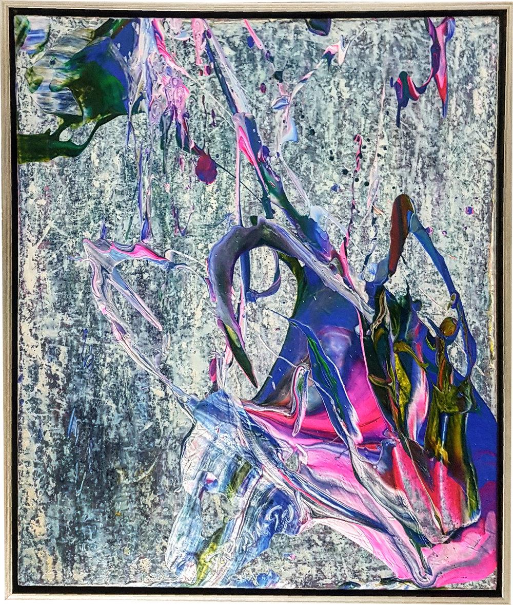 "SP² #28, 2017, acrylic on panel, 24.5"" x 21.5"" (62.2 x 52 cm)"