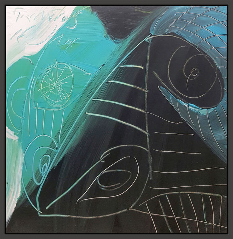 """Untitled #154, 2010, oil on canvas, 24"""" x 24"""" (61 x 61 cm)"""